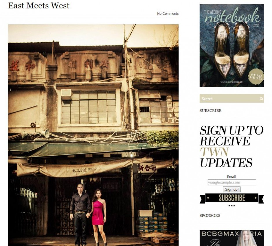 Love Stories: East Meets West @ the Wedding Notebook